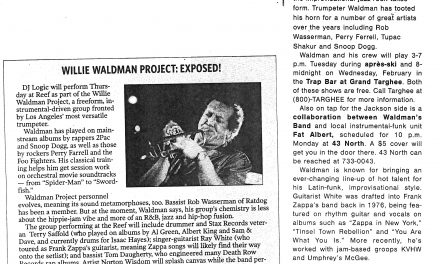 Willie Waldman Project: Exposed! MUSICBOX