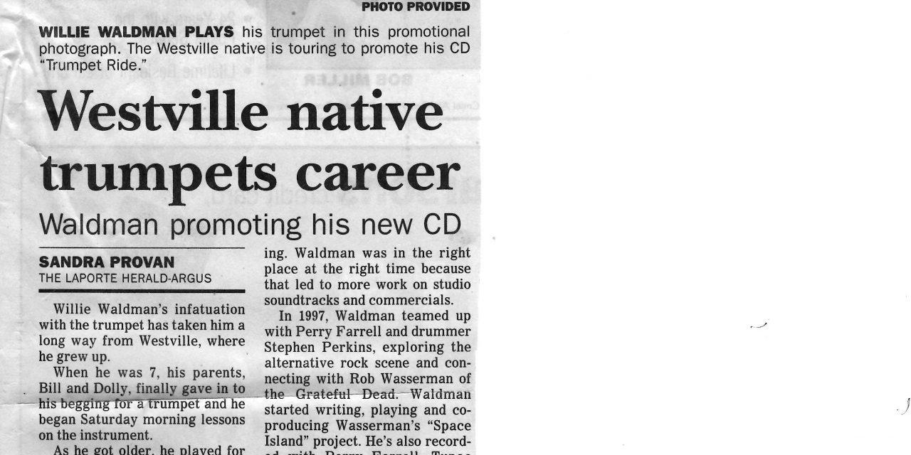 Westville native trumpets career